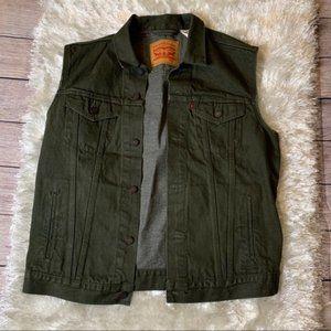 Levi's Olive Green Vest Mens L